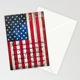 2nd Amendment on American Flag - Vertical Print Stationery Cards