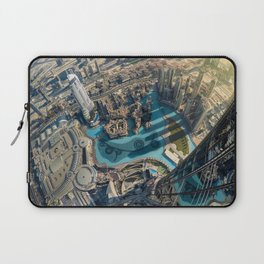 On top of the world, Burj Khalifa, Dubai, UAE Laptop Sleeve