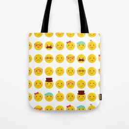 Cheeky Emoji Faces Tote Bag