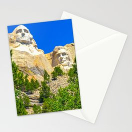 Mount Rushmore Vertical Print Color Stationery Cards