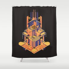 A Song of Lemons, Plums and Cherries Shower Curtain