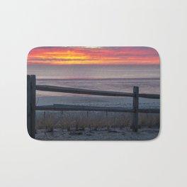 Colorful Beach Sunrise Bath Mat