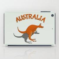 kangaroo iPad Cases featuring Kangaroo Australia by mailboxdisco