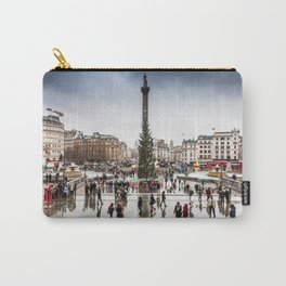 Trafalgar Square, London, at Christmas Carry-All Pouch