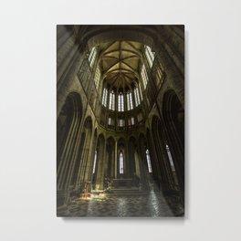 Abbaye du Mont-Saint-Michel Metal Print