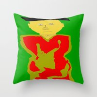 asia Throw Pillows featuring Asia by Happy Fish Gallery