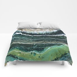 Peacock Curves Comforters