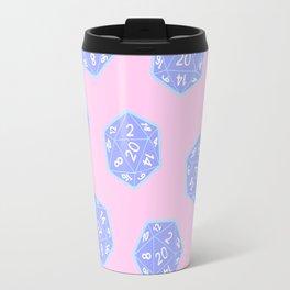 Twenty Sided Dice Pattern Travel Mug