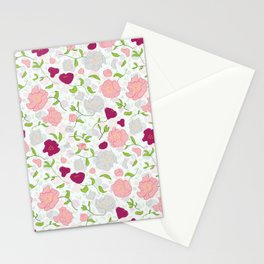 Positively Peonies Floral Pattern Stationery Cards