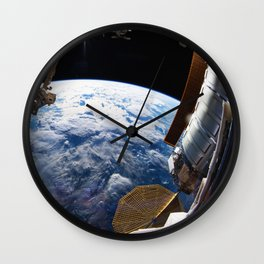 Astronaut in orbit Wall Clock
