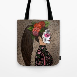 Rosa Maria on the Day of the Dead Tote Bag