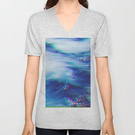 Oceanic Glitches - Very Blue Unisex V-Neck