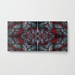 Red Revolver Metal Print