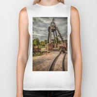 victorian Biker Tanks featuring Victorian Mine by Adrian Evans