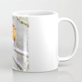 Angelic Robin Watercolor Coffee Mug