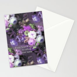 Every Beat of My heart is Calling Your Name Stationery Cards