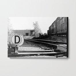 D.rail Metal Print