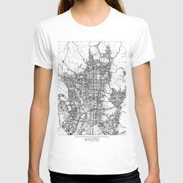 Kyoto Map White T-shirt