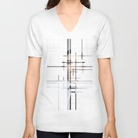 technology V-neck T-shirts featuring Technology by Robert J. Lopez