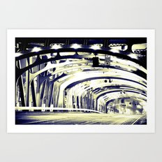 Through The Golden Bridge Art Print