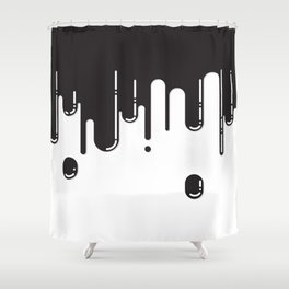 Melting black stuff Shower Curtain