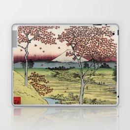 Hiroshige - 36 Views of Mount Fuji (1858) - 10: Twilight Hill at Meguro in the Eastern Capital Laptop & iPad Skin