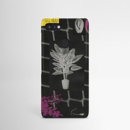 Strong Saints - Magic Dark collage with key, saints, net, shells, plants and grid Android Case