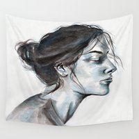 lucy Wall Tapestries featuring Lucy by Chloe Gibb