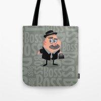 boss Tote Bags featuring Boss by Glenn Melenhorst