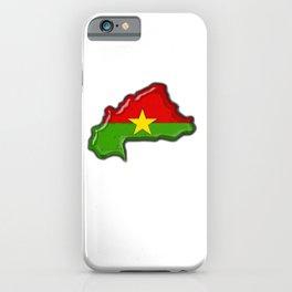 Burkina Faso with Burkinabe Flag iPhone Case