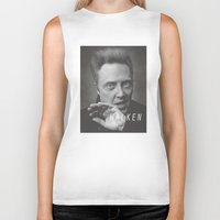 christopher walken Biker Tanks featuring Christopher... Walken by Earl of Grey