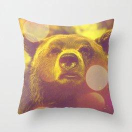 ACID BEAR Throw Pillow