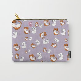 Mustelid pattern in Purple (c) 2017 Carry-All Pouch