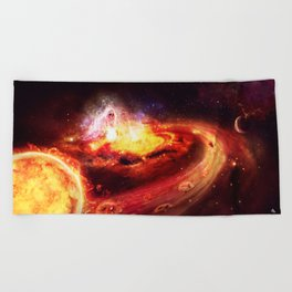 Liberate te ex inferis. Beach Towel