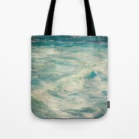 big sur Tote Bags featuring Big Sur - Pacificus Wondrous  by Jenndalyn