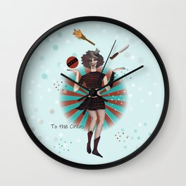 To the circus Wall Clock