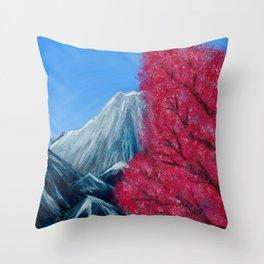 Sakura Season Throw Pillow