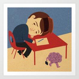 absent brain Art Print