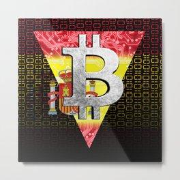 bitcoin spain Metal Print