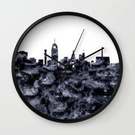 Lansing Skyline Michigan Wall Clock