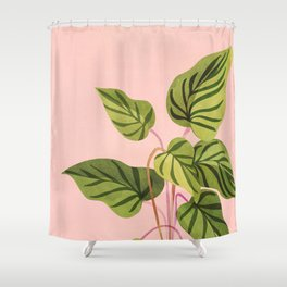 Upstart / Tropical flora Shower Curtain