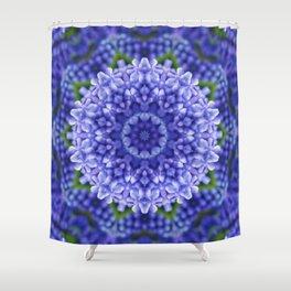 Blue Hyacinth Flower Paradise Shower Curtain