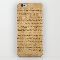 bible verses iPhone & iPod Skins featuring Asemic Script Verses by Lestaret