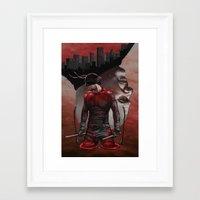 daredevil Framed Art Prints featuring Daredevil by Kiptoe