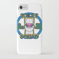 toilet iPhone & iPod Cases featuring Toilet Squad by Justin Kedl