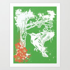 Goldfinch Mother - Spring Explosion Art Print