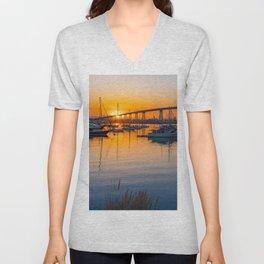 Coronado Bridge Sunrise Unisex V-Neck