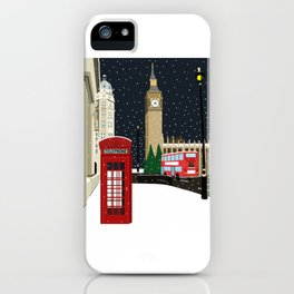 London Westminster in the Snow iPhone Case
