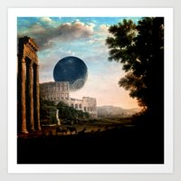 death star Art Prints featuring Death Star by DIVIDUS