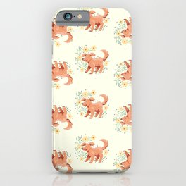 Golden Pup in the Flowers iPhone Case